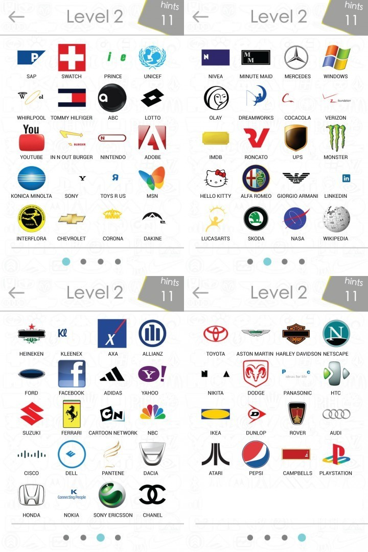 logo quiz level 6 lösung