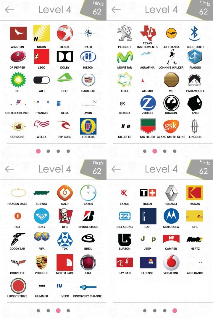 Company Logos Quiz Answers Level 4