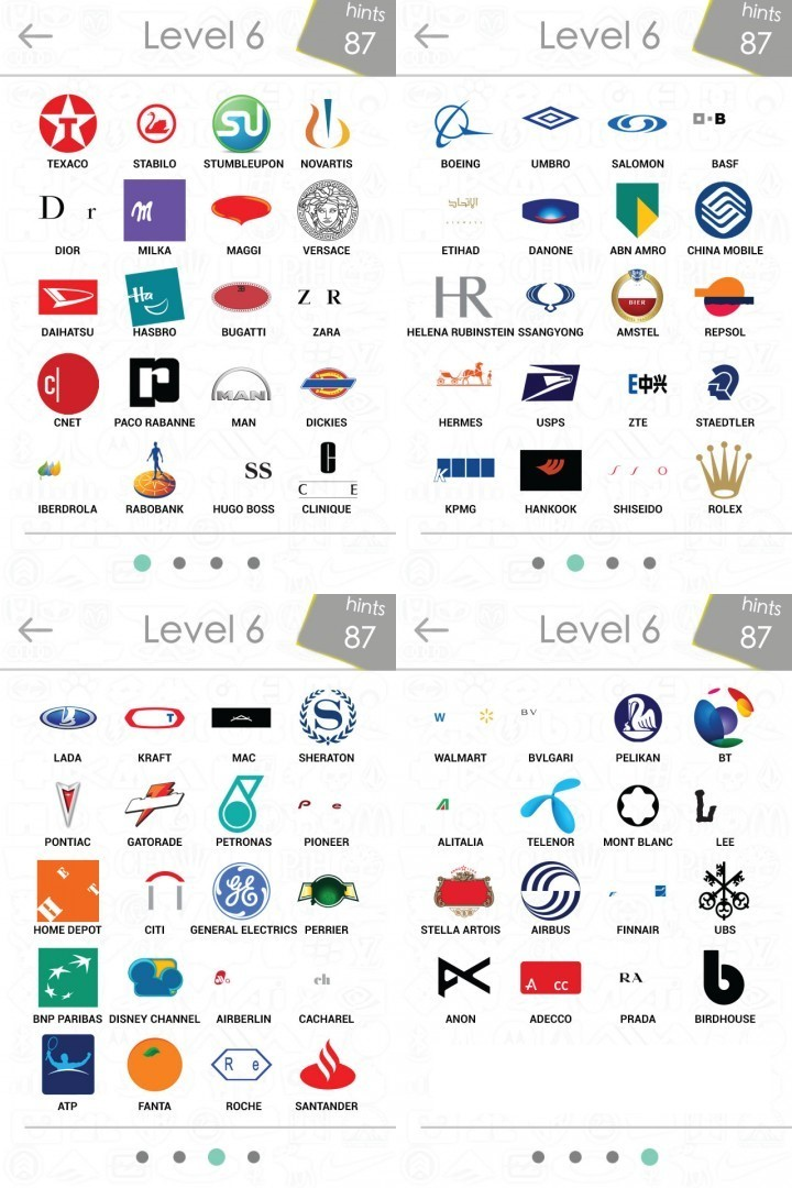 Company Logos Quiz Answers Level 6