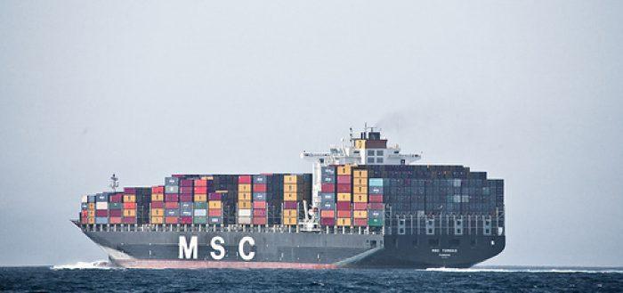 Containerschiff Logistik